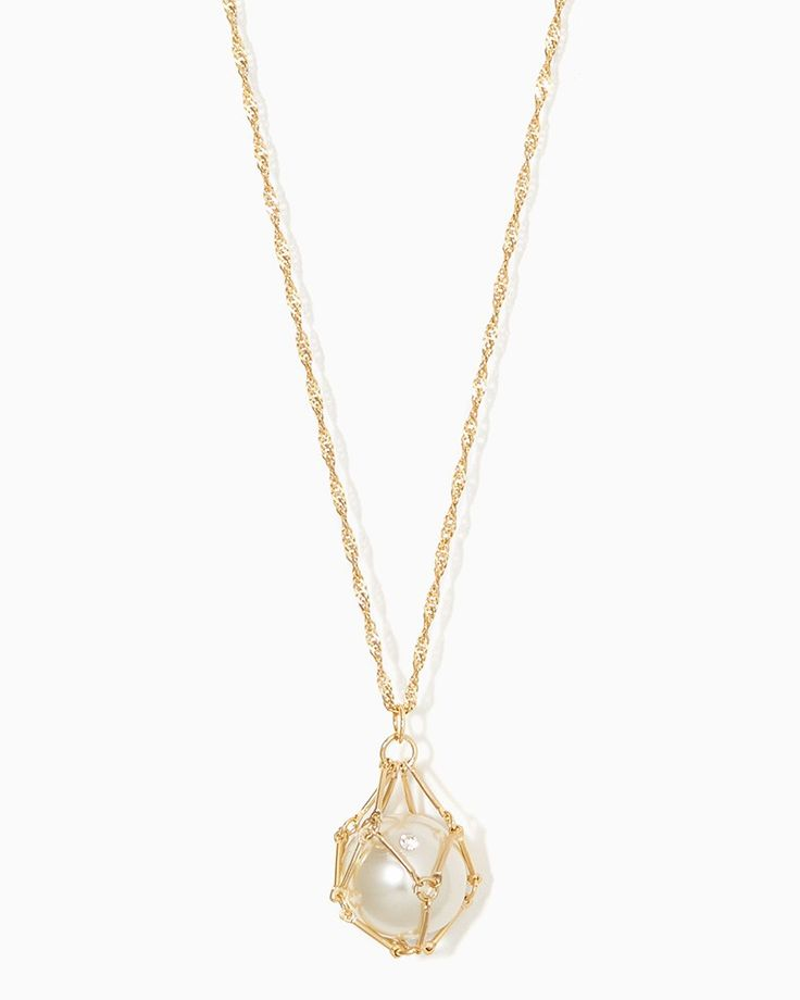 Pearl Cage Pendant Necklace | Fashion Jewelry - Delicate 3 | charming charlie