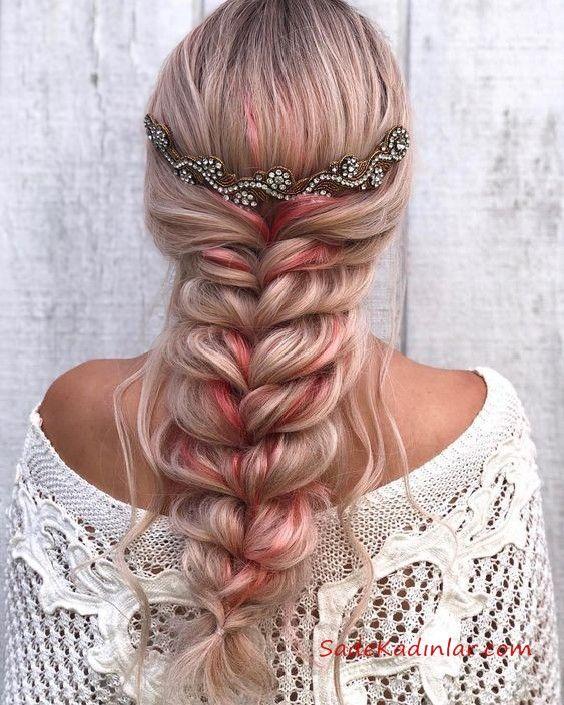 Geflecht Frisuren # Frisur #Haar #Frisuren #Frisurenfarbe   – Saç Modelleri