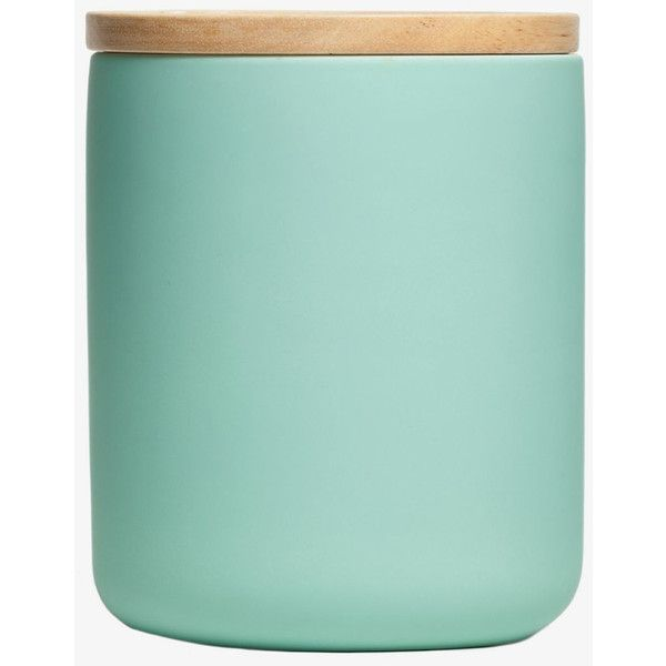 General Eclectic XL Canister - Matt Aqua (32 CAD) ❤ liked on Polyvore featuring home, kitchen & dining, food storage containers, storage canisters, ceramic food storage containers und ceramic canisters