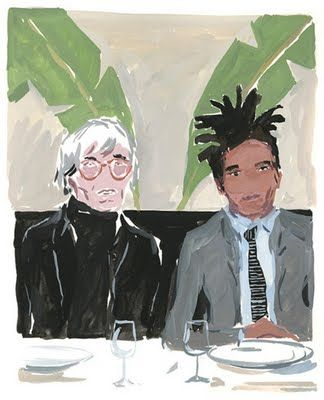 Warhol and Basquiat at Indochine by Jean-Philippe Delhomme