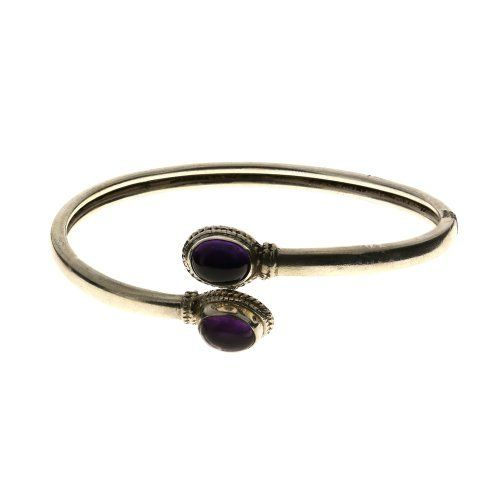 Flexible amethyst sterling silver bracelet indian jewelry handmade ShalinIndia. $74.23. Weight: 11 Gram. Sterling silver 925. Original gemstone beads. Diameter: 2.5 Inches. Made in India. Save 40% Off!