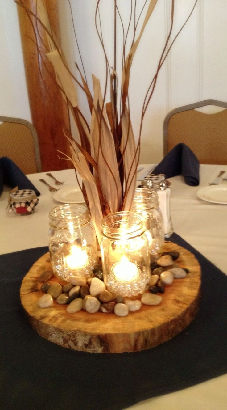 Birthday table decorations for men - 730a6265b8971361c8129a22268cac28 Jpg 1 200 2 165 Pixels Rustic Centerpiecescenterpiece Weddingmason Jar Centerpieces For Birthday Menfishing