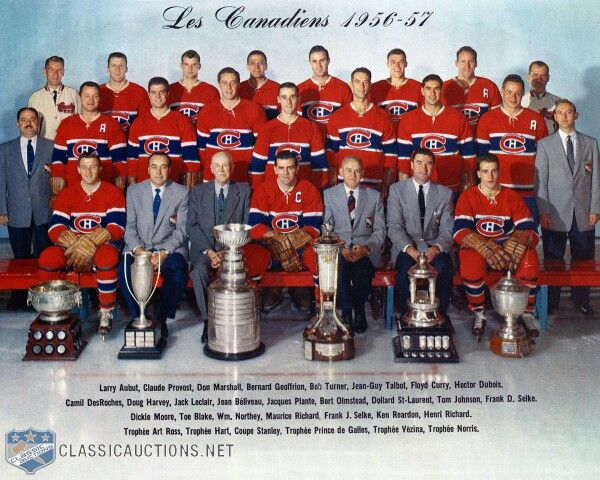 1957 Montreal Canadiens team picture