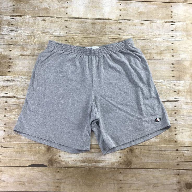 Champion Sportswear Heather Gray Gym Shorts Mens Size Large
