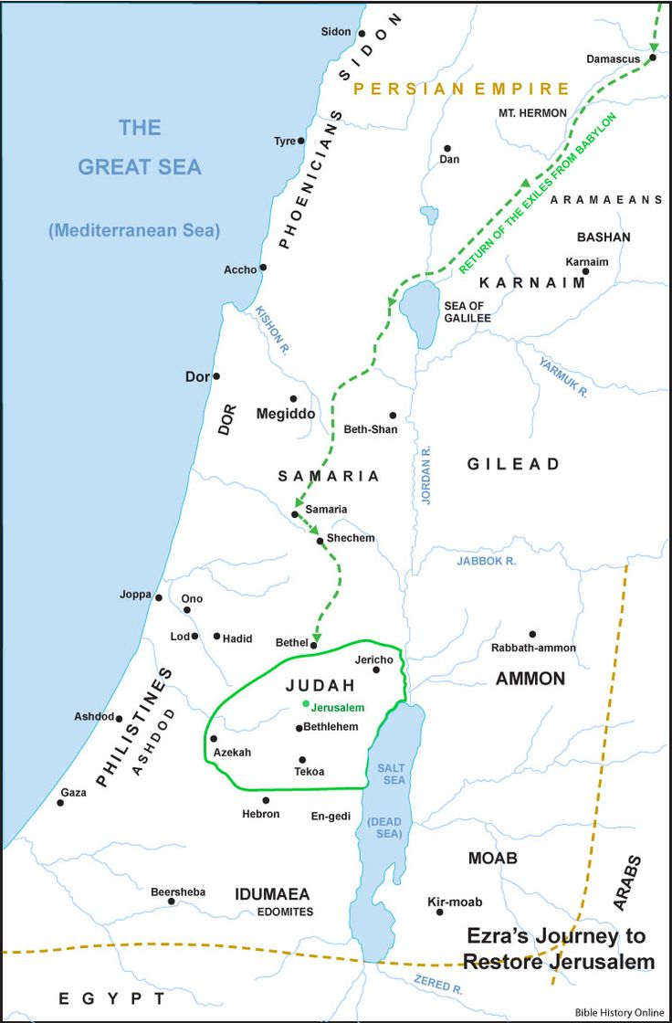 Chart Of Ezra S Return To Jerusalem Google Search The
