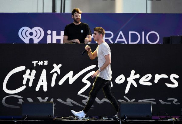 Andrew Taggart Photos Photos - DJs Alex Pall (L) and Andrew Taggart of The Chainsmokers perform during the 2016 Daytime Village at the iHeartRadio Music Festival at the Las Vegas Village on September 24, 2016 in Las Vegas, Nevada. - 2016 Daytime Village at the iHeartRadio Music Festival on September 24, 2016