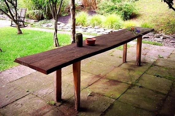 rustic: Outdoor Wedding, Rustic Banquet, Rustic Tables, Banquet Tables, Rustic Slab Tables Outdoor, Tables Rustic, Picnics Tables, Outdoor Tables, Rustic Wedding