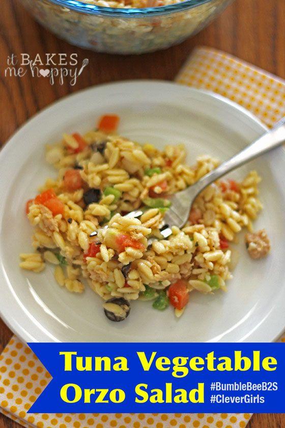 Tuna Vegetable Orzo Salad | Recipe | Vegetables, Happy and Tuna