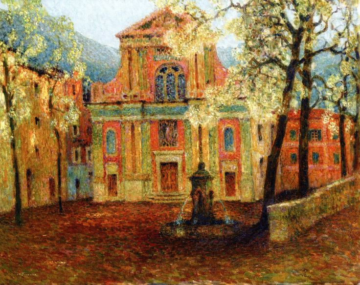 The Athenaeum - The Church at Dolceacqua (Henri Le Sidaner - No dates listed)
