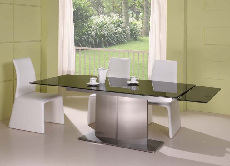 Classy Modern Black Marble Extendable Dining Table Stainless Steel ~ Stainless  Steel Dining Table: Marble
