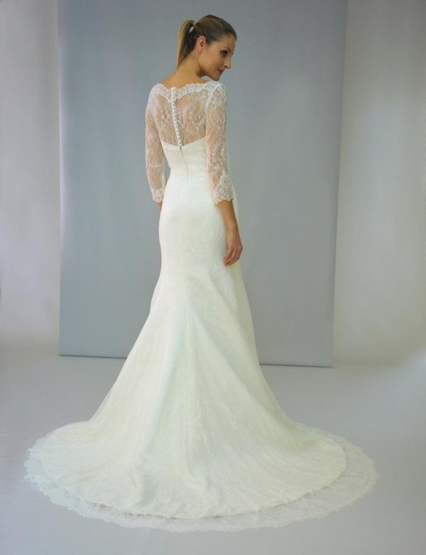 Long sleeve wedding dress as found at malindy elene bridal for Macys dresses for weddings