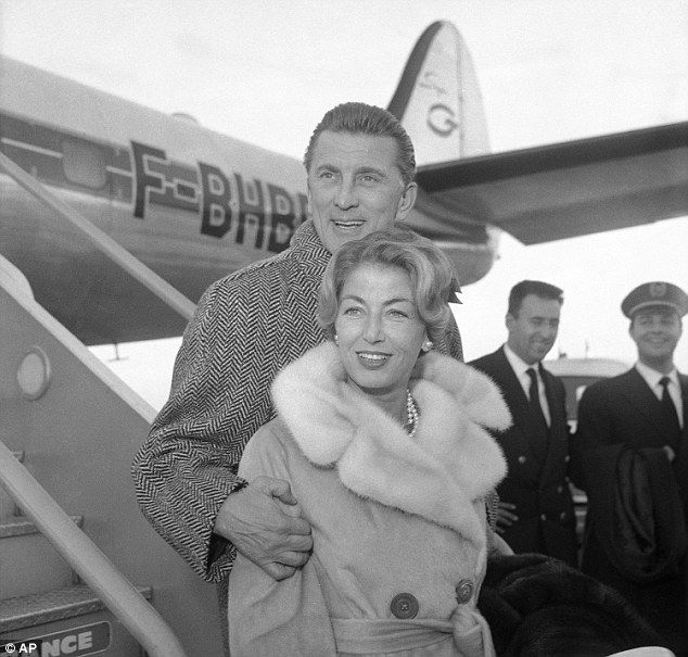 Kirk Douglas and wife Anne Buydens #ComeFlyWithMe