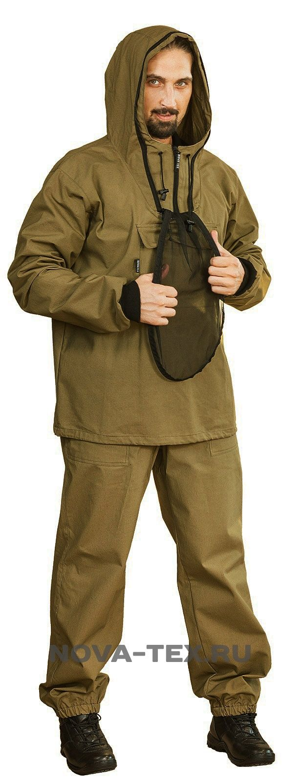 Противоэнцефалитный костюм (палатка, темн. хаки) КВЕСТ