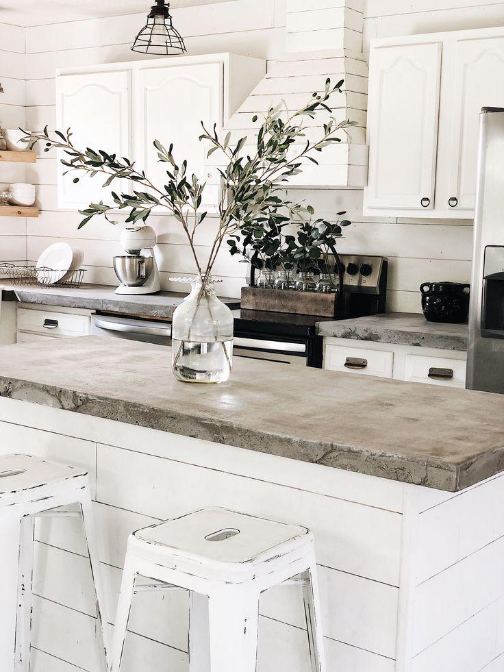 diy concrete countertops sweet kentucky holler farmhouse blog kitchen design countertops on farmhouse kitchen decor countertop id=35777
