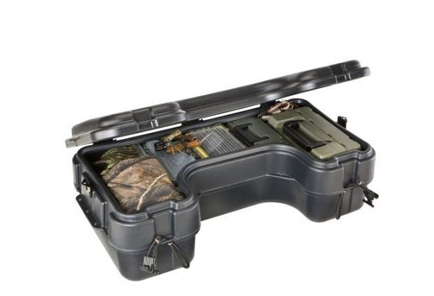 ATV Cargo Box Hunting Storage Box Four Wheeler Rear Rack  Mount Container Water #Plano #atv #Cargo #Box #travel #Hunting #offroad #weather #ebay