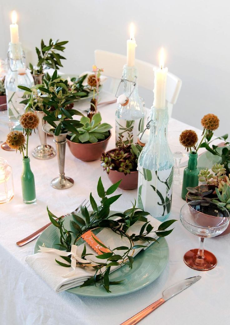 91 Magazine - Issue 7 by 91 Magazine - table settings mixing natural elements & copper