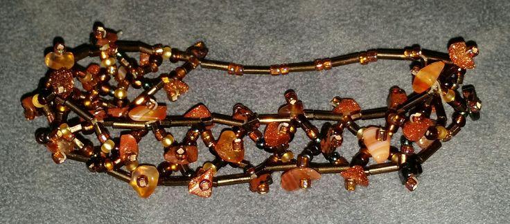 #Schmuck, #Armband, #Perlen,  #Edelsteine, #Goldfluss, #Karneol