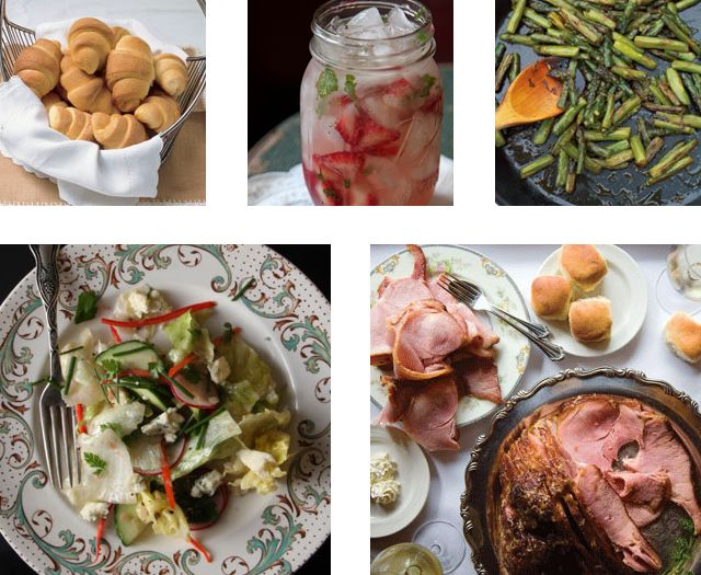 A Classic Southern Easter Menu | Easter Sunday in the South brings to mind fancy Easter bonnets and pastel dresses, kids hunting for eggs on the lawn, and big pitchers of iced tea—or cocktails, depending on your mood. Host your own Easter celebration with this Southern-inspired menu featuring all the classics: glazed ham, buttery crescent rolls, deviled eggs, and of course fluffy coconut cake. | From: saveur.com