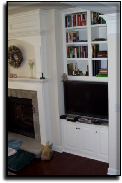 Built In Tv Niche Cabinets In Reston Va Fireplace Single