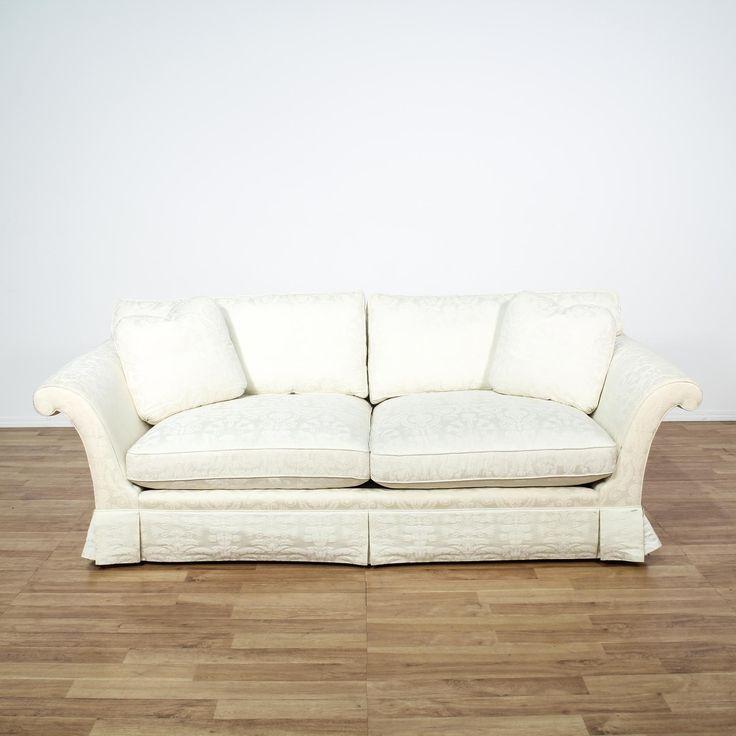 Chenille Skirted Sofa: 17 Best Ideas About White Sofas On Pinterest
