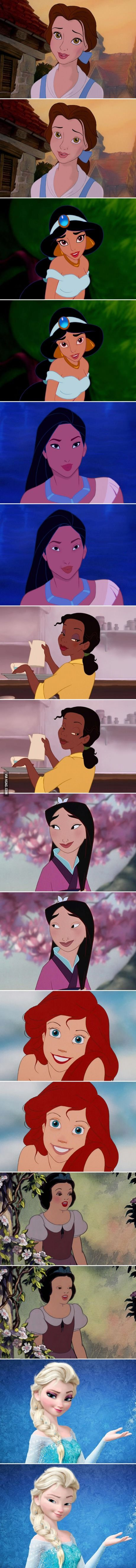 Here's What Disney Princesses Would Look Like Without Makeup