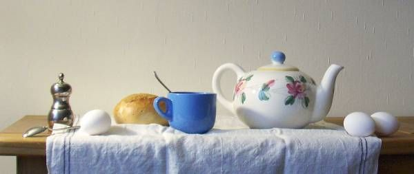 Still life tea: Wet Canvas