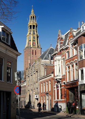 Der Aakerk vanuit Munnekeholm. Groningen. The Netherlands.