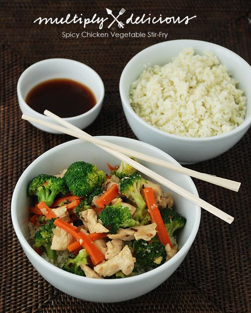 Multiply Delicious- The Food | Spicy Chicken Vegetable Stir-Fry…and a Giveaway!
