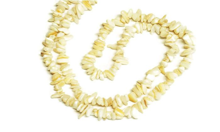 "2 Strands White Mother Of Pearl Chips Endless Shape Jewelry Making Chips 36""Long #luctsa"