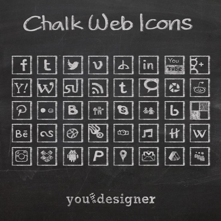 Free Chalk Web Icons