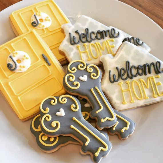Housewarming Decorated Sugar Cookies by AnnPotterBaking on Etsy