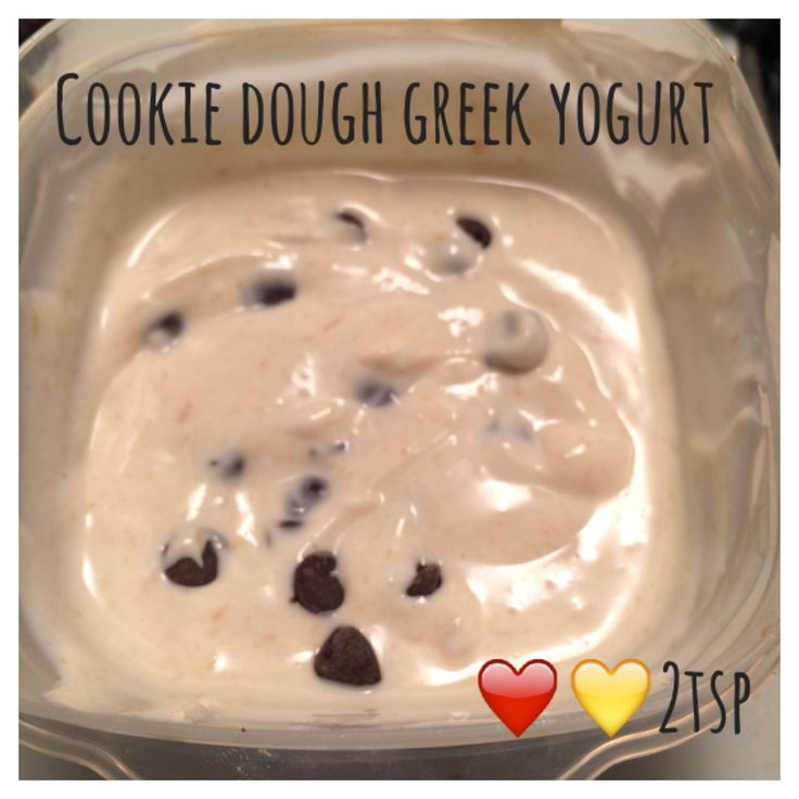 Di's Food Diary 21 Day Fix Approved Snack Recipes = Cookie Dough Greek Yogurt