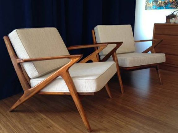 Ideas To Place Mid Century Modern Chair In Contemporary Room : Mid Century  Danish Modern Style Teak Lounge Chair Living Room Chairs