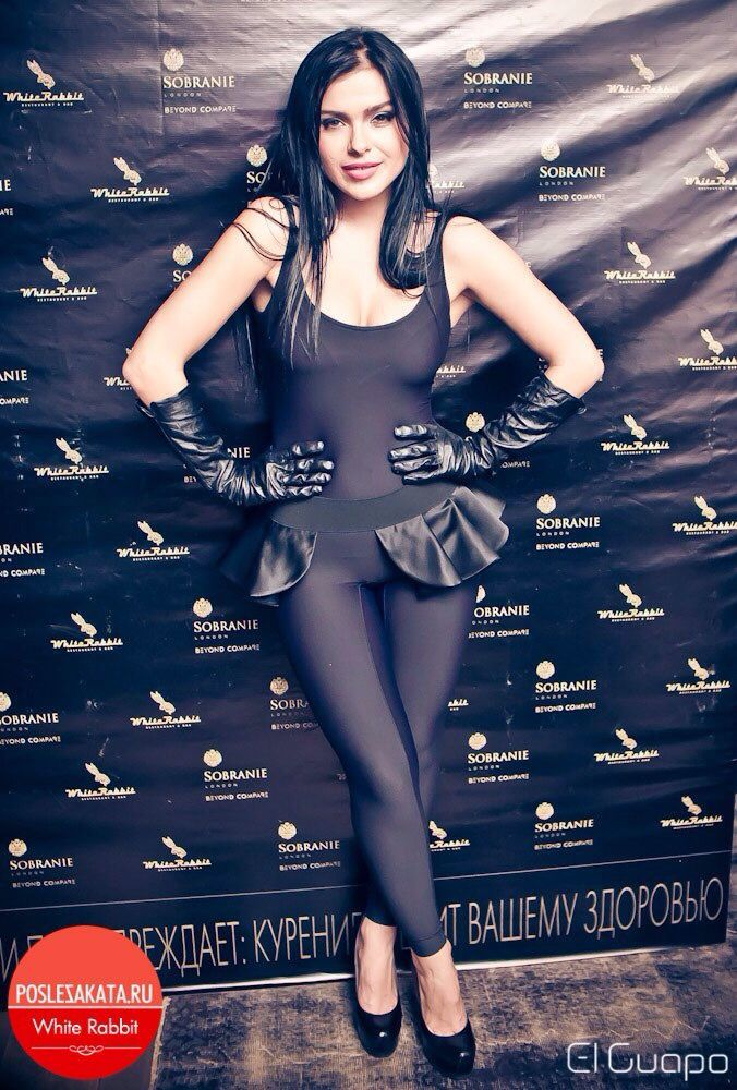 Lena gorgeous in a group of SEREBRO.