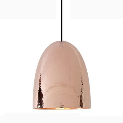 Copper light...would be beautiful in 3s over the island in the kitchen