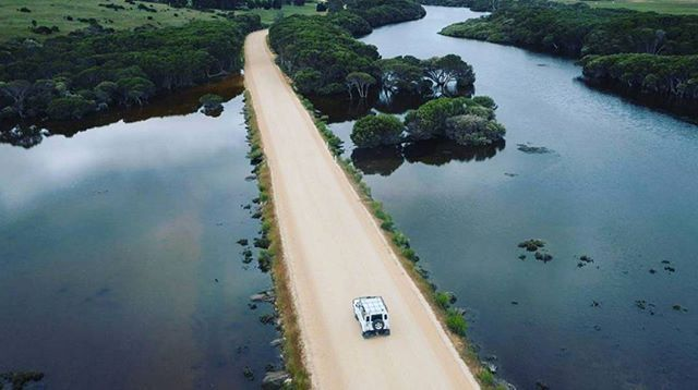 Road trippin' on the Dudley Peninsula in the beautiful Chapman River area .  Image courtesy: @aerialelement .  #ChapmanRiver #DudleyPeninsula #KangarooIsland #SouthAustralia #Australia #authenticKI #openallyear