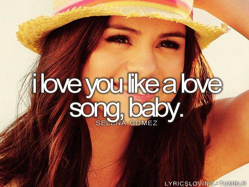 *Love You Like A Love Song* ~Selena Gomez & the Scene