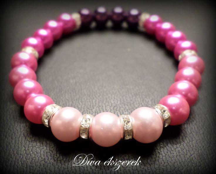Rózsaszín gumis karkötő. Pink bracelet. Check my site for more: facebook.com/divaekszerek