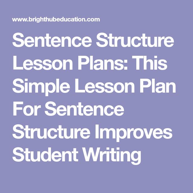 Sentence Structure Lesson Plans: This Simple Lesson Plan For Sentence Structure Improves Student Writing