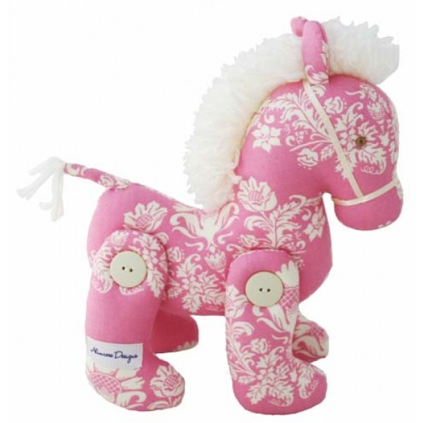 Alimrose Designs Jointed Toy Pony - Pink Toile
