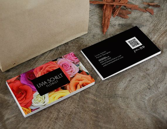 Livia double sided business card  Instant by deideigraphic on Etsy