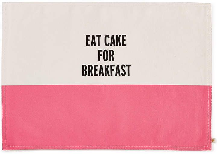 kate spade new york Food for Thought Eat Cake for Breakfast Placemat #ad