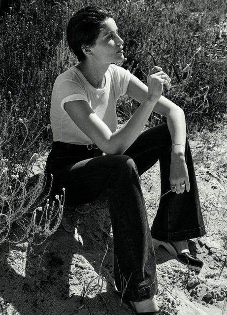 Laetitia Casta in our iconic white T-Shirt in French ELLE