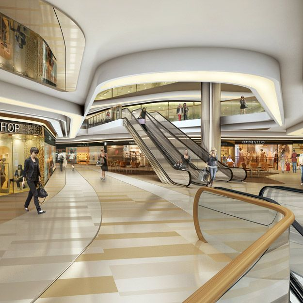 Retail shopping mall interior design
