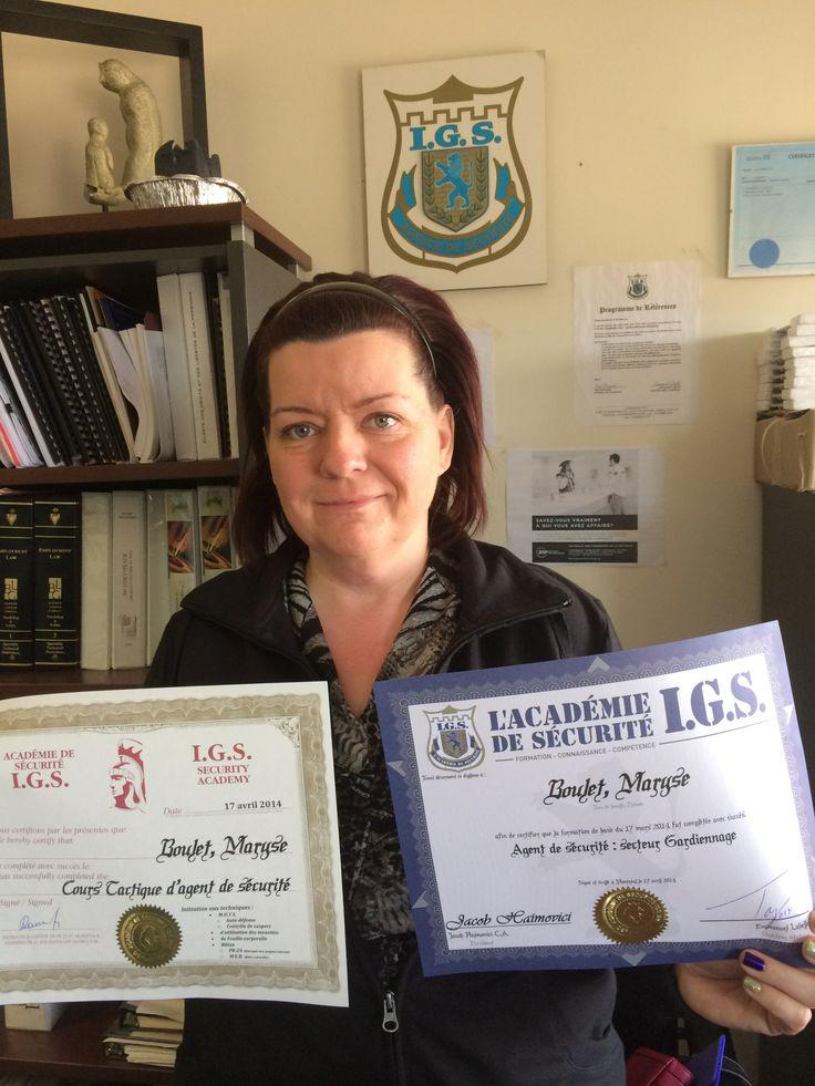 Nos diplomé de l'Académie De Sécurité I.G.S. à Montreal