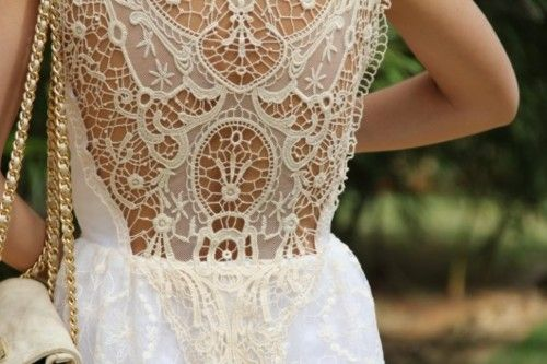 lace back: Wedding Dressses, Fashion, Laceback, Style, Clothing, White Lace, Lace Back, Lace Dresses, Back Details