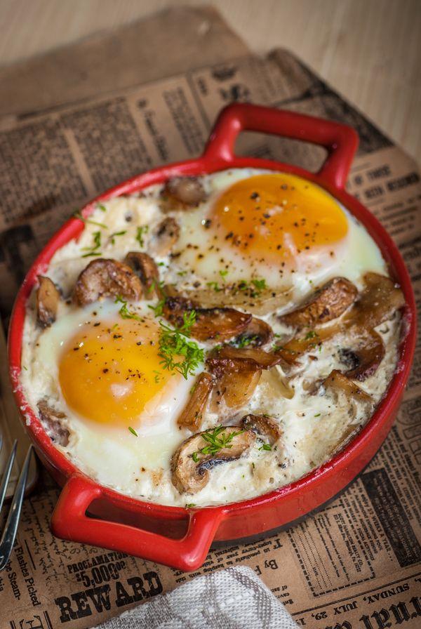"""Яичница, запеченная с картофелем и сливками. Ниро Вульф. """"Литературная кухня"""" Литературная кухня, Ниро Вульф, из Одессы с морковью, кулинария, рецепт, еда, длиннопост, Бра"""