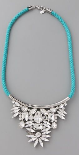 Hello fabulous:)  I love simple, I love turquoise & I love vintage rhinestones...how did they know??
