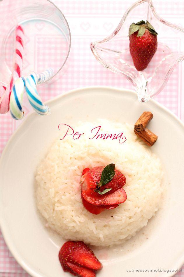 Pudding di riso con latte di cocco, cannella e fragola   A Thai Pianist