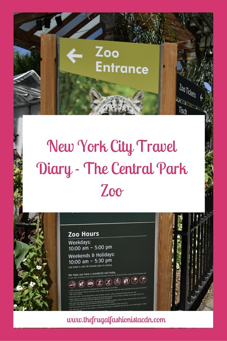 New York City Travel Diary - The Central Park Zoo http://thefrugalfashionistacdn.com/new-yore-city-travel-diary-central-park-zoo/